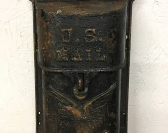 NEW ITEM: Late 1800-early 1900 cast iron mailbox