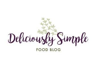 Food Blogger Logo - Premade Logo - Blogger Logo - Floral Logo - Artist Logo - Professional Logo - Small Business Logo - Minimal Logo