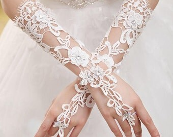 Gloves lace Crochet for bride
