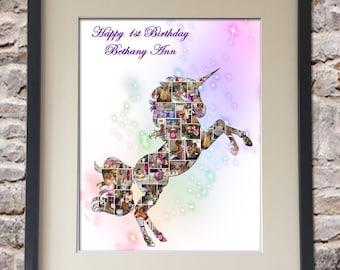 Unicorn Digital Collage