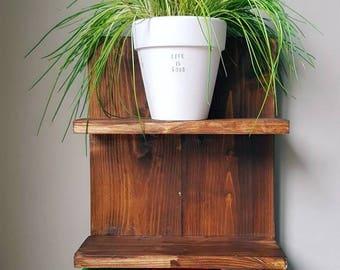 Rustic wooden shelf, wooden shelving, wooden storage, bathroom shelf, kitchen shelf, kitchen storage, bathroom storage, storage, bedroom