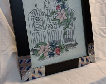 bird cage cross stitch picture
