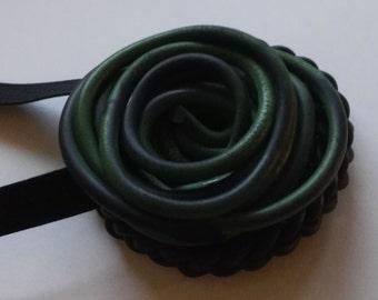 Green Spiral necklace handmade Necklace décolleté Saber Bijoux