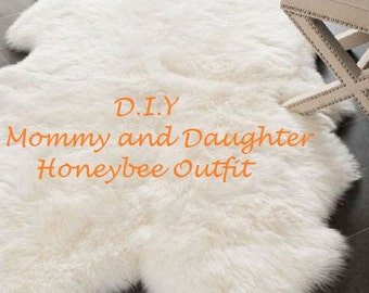 D.I.Y Mommy and Daughter Outfit, Honeybee Shirt, Mommy and Me, Twinning