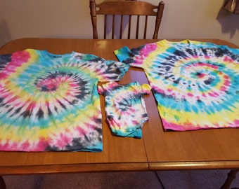 Daddy, Mommy, and Me Matching Tie Dye