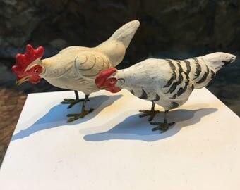 German Putz Rooster and Hen, 1910 -1915