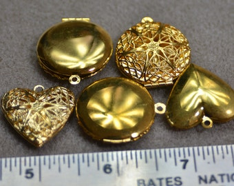 Gold colored Filagree Lockets Jewelry