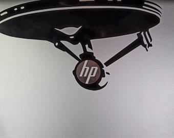 Star Trek Laptop Decal, Enterprise Decal, Trekkie Decal, Decal For Vehicle, Star Trek Decal, Starfleet Laptop Decal, Tablet Decal,Spock,Kirk