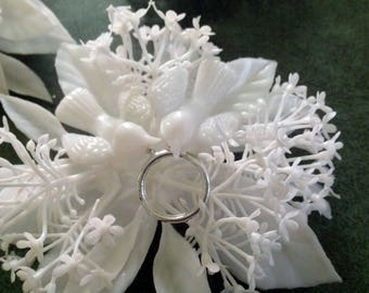 White Plastic Wedding/Anniversary Decorations, Cakes or Gift Toppers