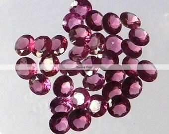 10 pieces 2mm rhodolite garnet round faceted cut gemstone natural rhodolite garnet faceted round loose gemstone lot faceted rhodolite garnet