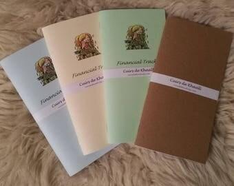 (Refills) notebooks Khaalldori Traveler's Notebook / Financial Tracker (Midori Format)