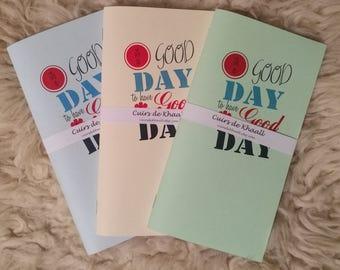 "(Refills) notebooks Khaalldori Traveler's Notebook / card stock color ""It's a good day"" (size Midori)"