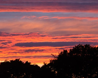 Fire in the sky sunset photo print
