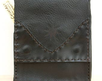 Hand-sewn genuine leather men shoulder BAG. Canapart! NN