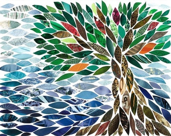 Riverside Tree collage print