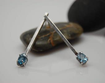 London Topaz and sterling silver Earrings