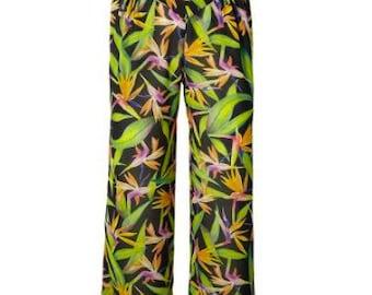 Hight waisted Callots, Festival Wear, Hippy Trousers, 70's style, Flower Power, Ibiza, Beachwear