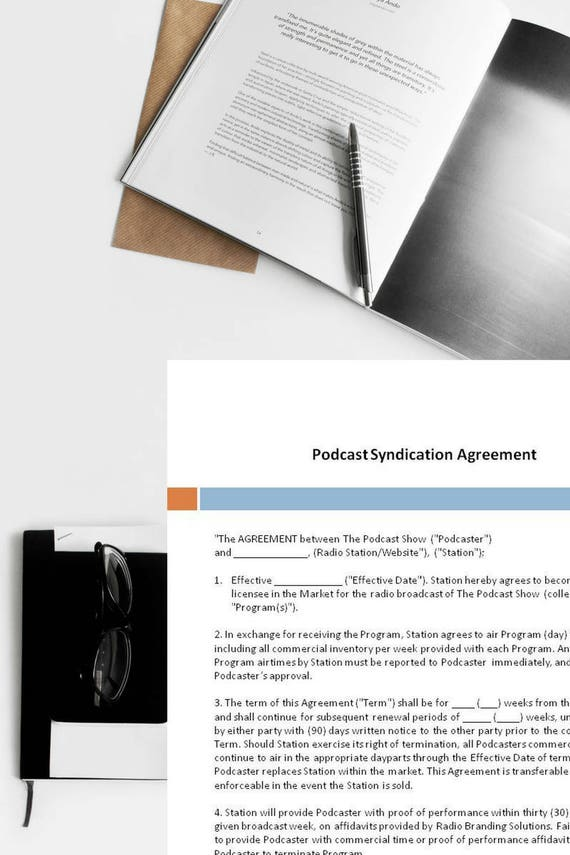 Podcast Syndication Agreement Syndication Agreement Podcast – Franchise Agreement Form