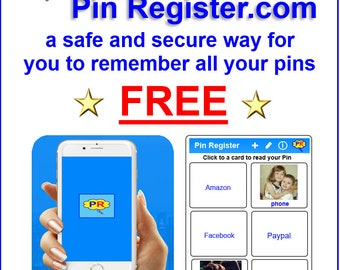You can remember all your Pins & Passwords!