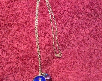 Blue nautical necklace