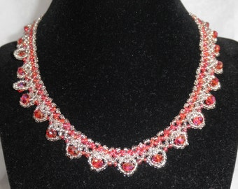 Delicate Netted necklace and earrings set