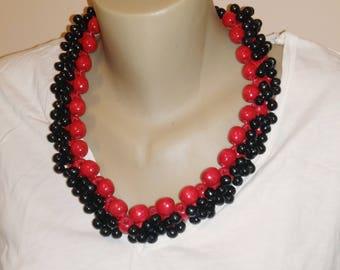 Beaded Wooden Set Necklace + Bracelet, Wooden Beads Necklace, Wood necklace en bracelet jewelry, Beaded Necklace
