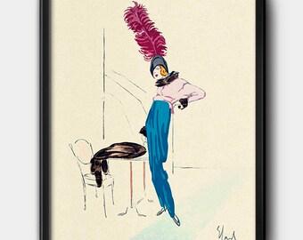 1910s · Instant Download · Fashion · Illustration · Watercolour · Vintage · Paris · Printable #129