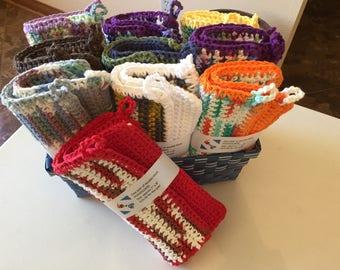 Double Thick Crochet Potholders (2 per set)