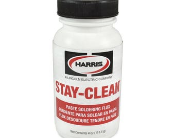 Harris Stay-Clean Solder Flux Paste 4 ounce Jar, 40027 SCPF4