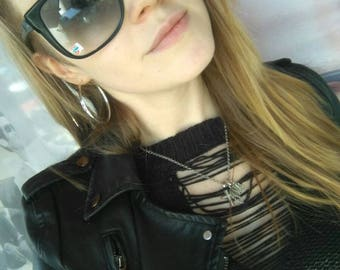 Vintage eyewear Plastic frame Retro sunglasses Sunglasses soviet 80s sunglasses Summer accessories Black sunglasses Made in USSR