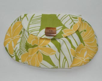 Tropical Pleated Clutch