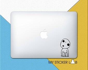 Princess Mononoke MacBook Decal MacBook Sticker Kodama Tree Spirit Decal Forest Studio Ghibli Anime Sticker Spirited Away Laptop Decal m971