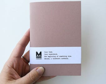 Fruit Mandorla | Handmade paper Notebook, travelers planner, Journal,diary, Bullet Journal refill Fauxdori Midori Traveler's A6 size