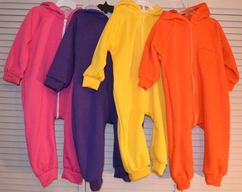 Bright Color Jumpsuit with smart fastener for 1-2 y.o.