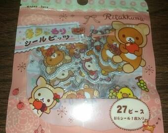 Kawaii Rilakkuma Puffy Sticker Flakes Sack