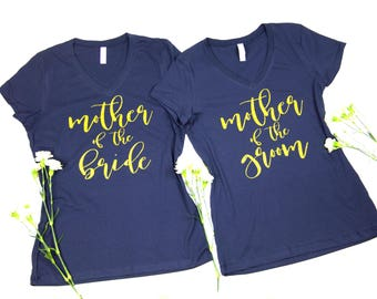 Mother Of The Bride Shirt. Mother of the Groom Shirt.  Bridal Party Shirt. Bridesmaid V-Neck. Wedding shirt. Bachelorette Party Shirt.