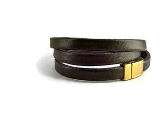 handmade Cuff Bracelet, Brown bracelet, leather bracelet