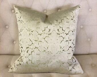 "Pistachio Lotus 20""x20"" Pillow Cover"