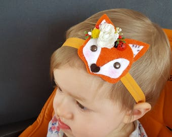 Fox Headband - Baby Headband - Cute Fox Headband - Baby Girl Headband