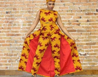 Ankara Pants and Floor Length Top