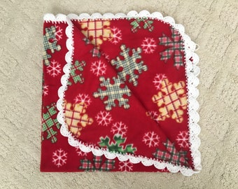 Snow Flake Fleece Baby Blanket