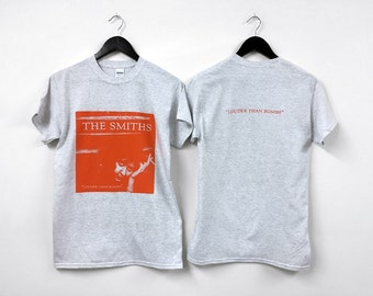 The Smiths - Louder Than Bombs shirt. - cotton tshirt, replica tshirt, heavy cotton tshirt, grey tshirt, album cover, music tshirt morrissey
