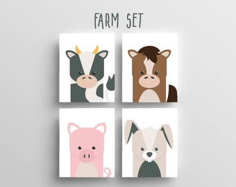 Farm Animal Prints 8x10