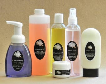 B: SOAP refill liquid - all in one - organic handmade 8 oz / 250 ml rug