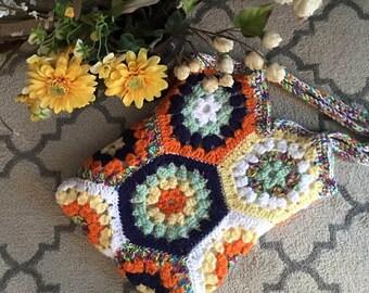 Hexagon Lined Market Bag