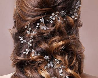Long hair vine Wedding Hair Vin Braut haarschmuck Bridal Headpiece Bridal boho Hair wedding Bridal Headband Bohemian Headpiece Bridal Tiara