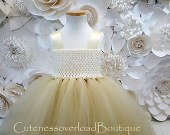 Nude Flower Girl Tutu Dress-Nude Tutu Dress-Nude Girl Tutu Dress.Flower Girl Tutu Dress-Wedding Tutu Dress