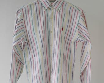 Vintage Ralph Lauren Button Front Shirt Made In USA/used