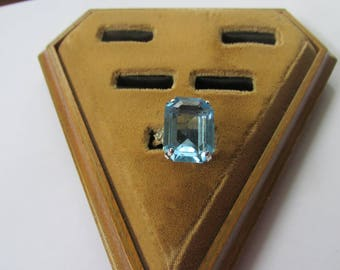 Beautiful Coventry Ring, Light Blue Stone, Adjustable 1960's/70's
