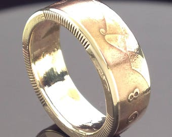 Irish One Penny Coin Ring (1940-2000)